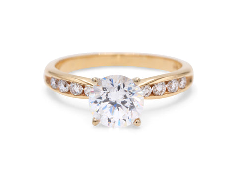 Classic PeJay Yellow Gold Solitaire Engagement Rign