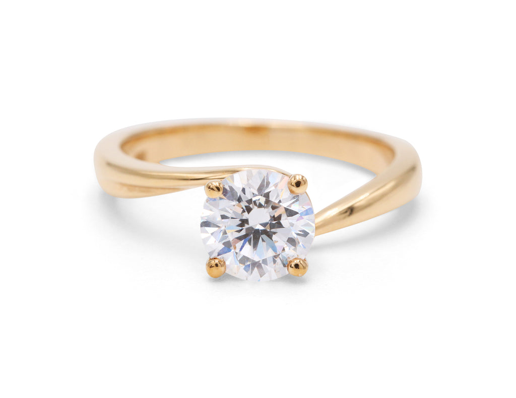 Pejay Creations Classic Solitaire 14k Yellow Gold Engagement Ring