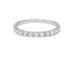 7 Diamond White Gold Wedding Band - Silverscape Designs