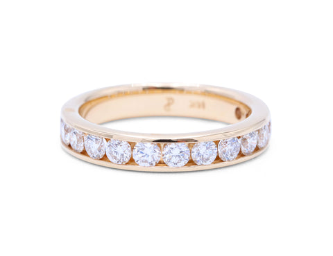 14 Diamond Yellow Gold Band - Silverscape Designs
