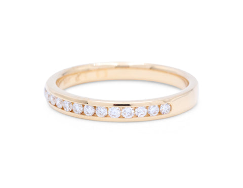 13 Diamond Yellow Gold Wedding Band