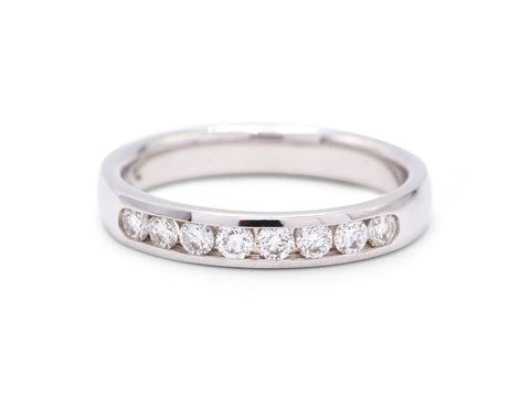 8 Diamond White Gold Wedding Band