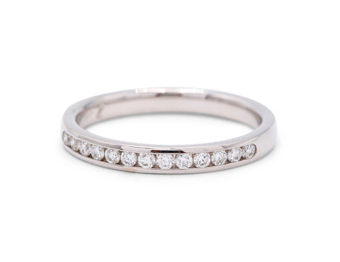 13 Diamond White Gold Wedding Band - Silverscape Designs