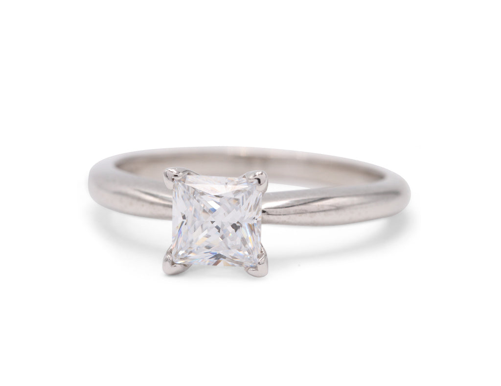 Dennis Perlman Design Princess Cut Platinum Engagement Ring