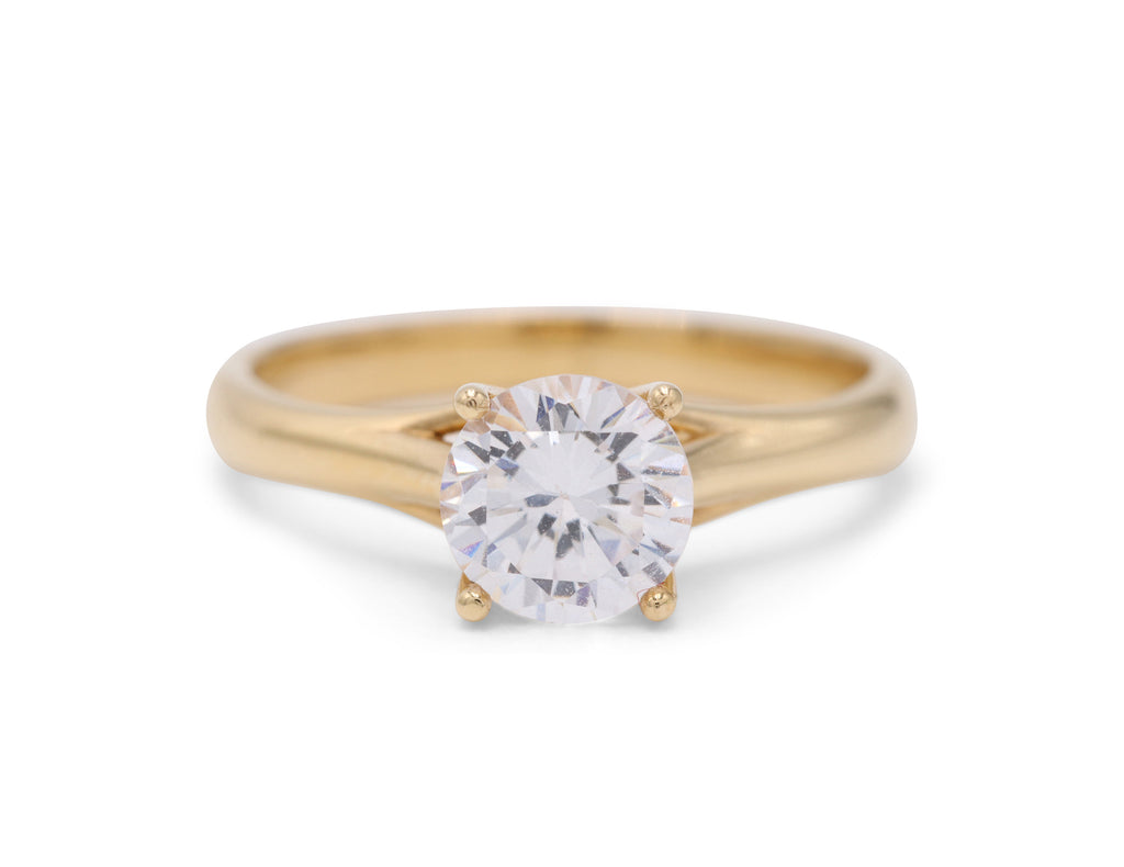 DP Design Yellow Gold Solitaire - Silverscape Designs