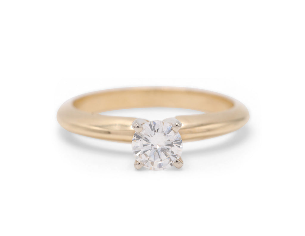Dennis Perlman Design Classic 14k Yellow Gold Solitaire Engagement Ring