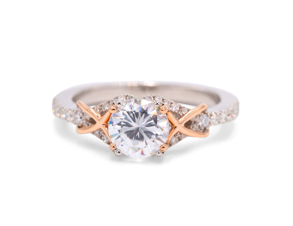 Two Toned Rose Gold Detailing Ring