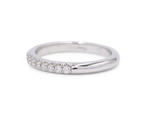 Fishtail Wedding Band (.29 carat) - Silverscape Designs
