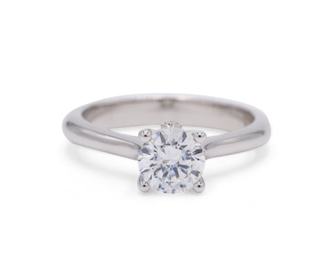 Classic Solitaire with Prong Diamond Engagement Ring - Silverscape Designs