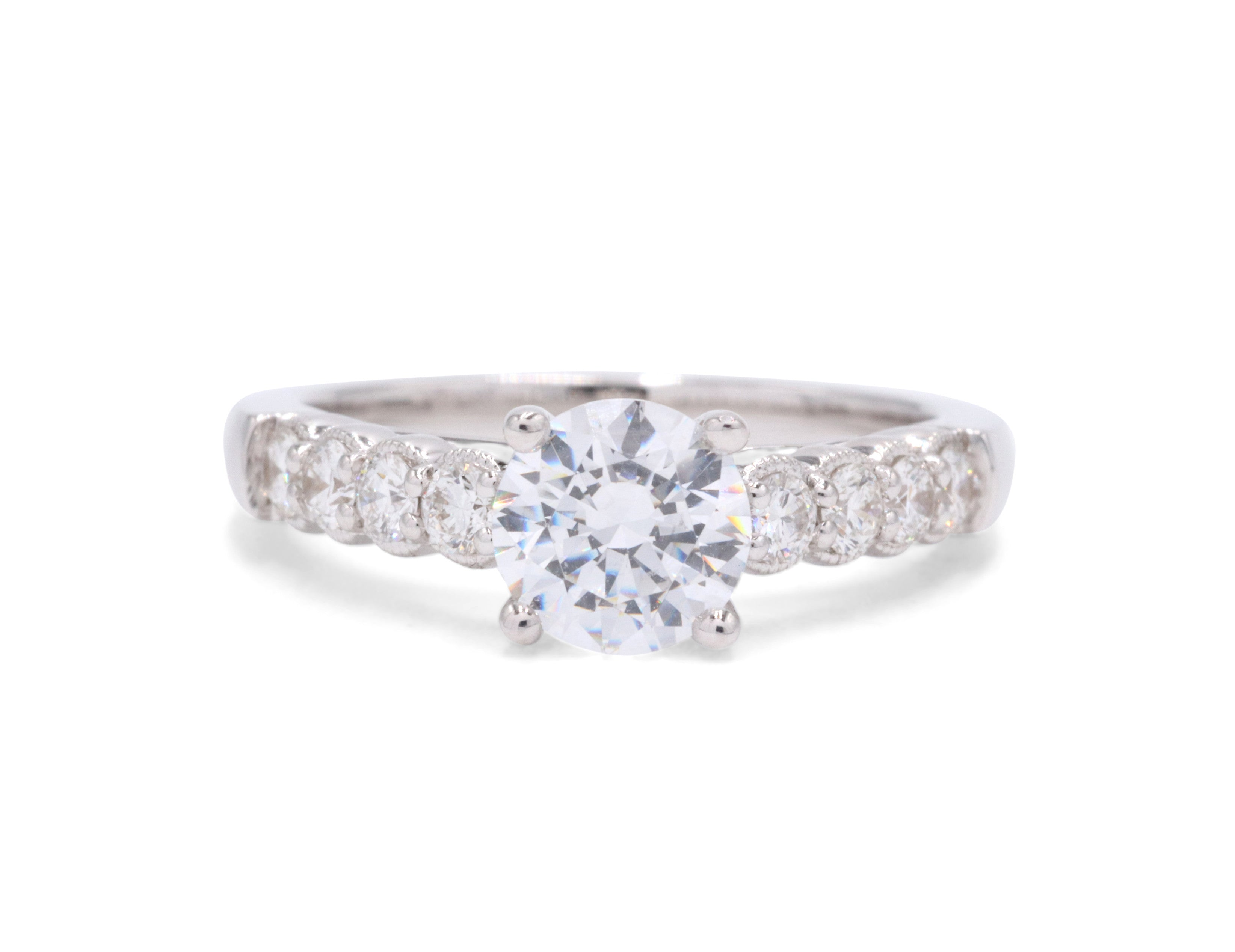 engagement rings contemporary ring solitaire white gold jewellery