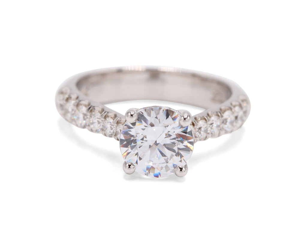 Diamond Detailing Engagment Ring - Silverscape Designs