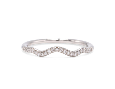 Fishtail Curve Wedding Band