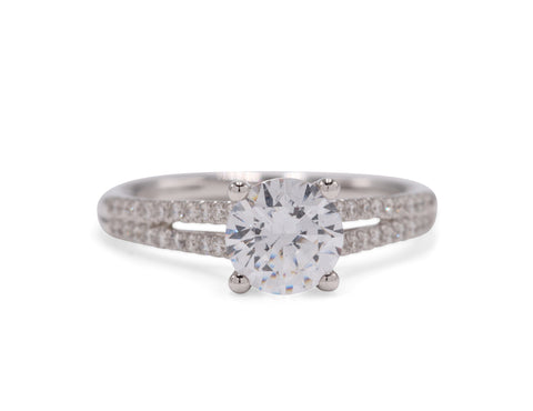 Split Shank Classic Engagement Ring