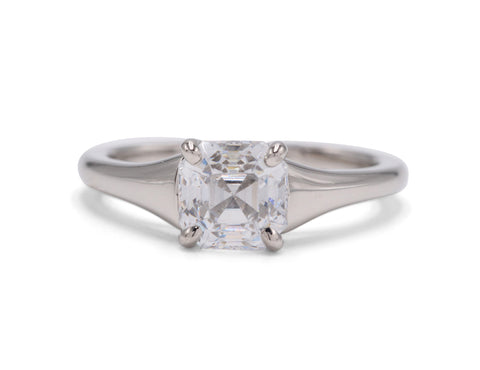 Sculptural Madison Engagement Ring - Silverscape Designs