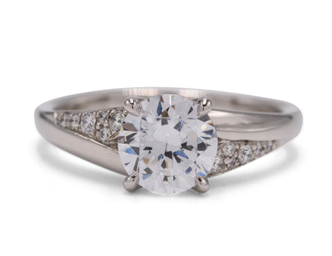 Pave Berkley PlatinumEngagement Ring - Silverscape Designs