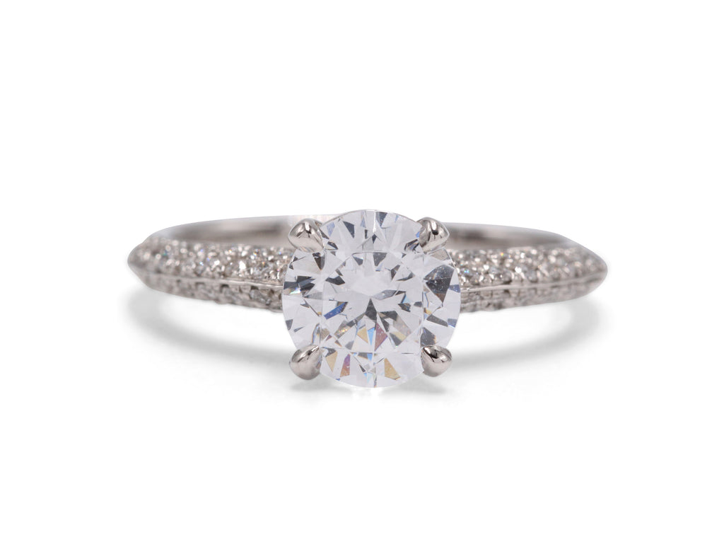 Michael Bondanza Diamond Plaza Platinum .30ctw Side Diamonds Engagement Ring