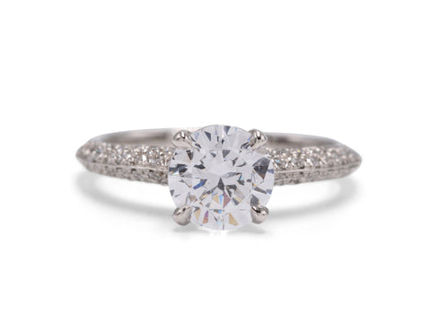 Diamond Plaza Platinum Engagement Ring - Silverscape Designs