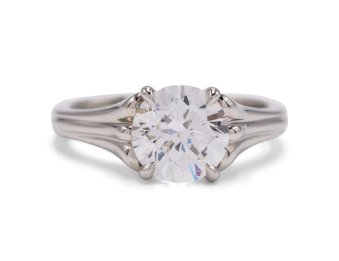 Michael Bondanza Platinum Butterfield Mounting Engagement Ring