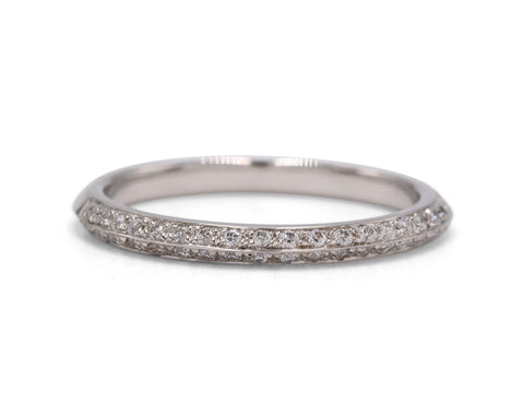 Platinum Diamond Wedding Band - Silverscape Designs