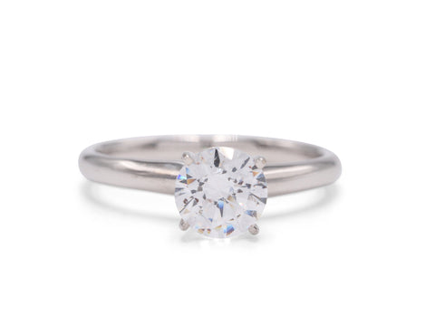 18K/Platinum Solitaire - Silverscape Designs