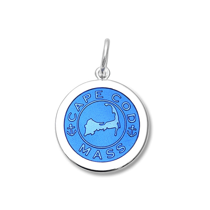 Periwinkle Cape Cod Pendant in Sterling Silver 19mm - Silverscape Designs