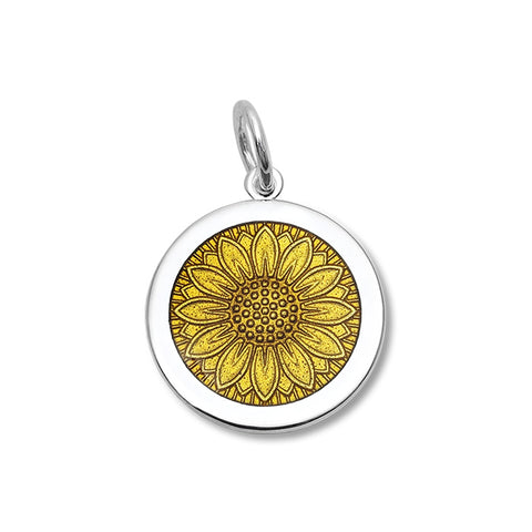 Gold Sunflower Pendant in Sterling Silver - Silverscape Designs