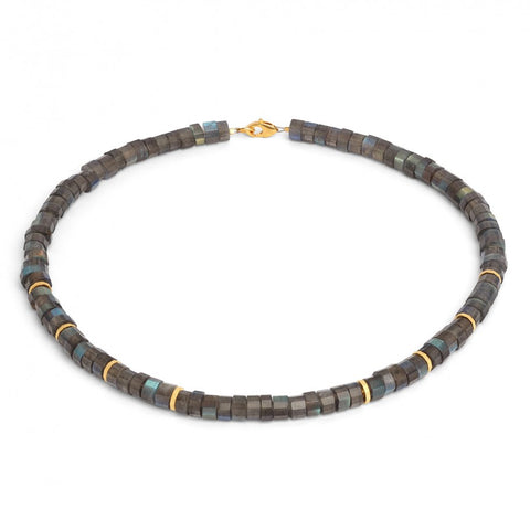 "Laseta Labradorite 14k Gold/Silver 18"" Necklace"