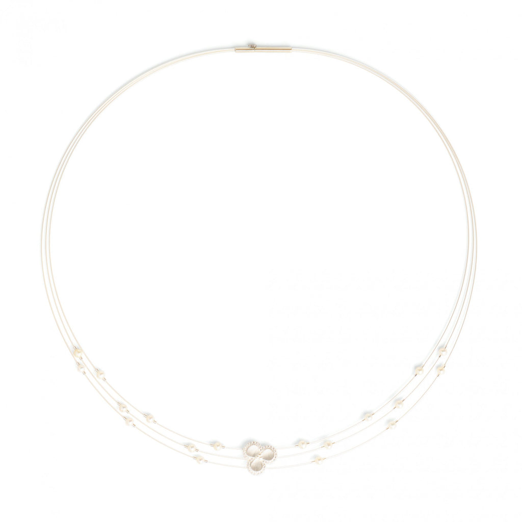 Bernd Wolf Leisa Sterling Silver Freshwater Pearl Necklace
