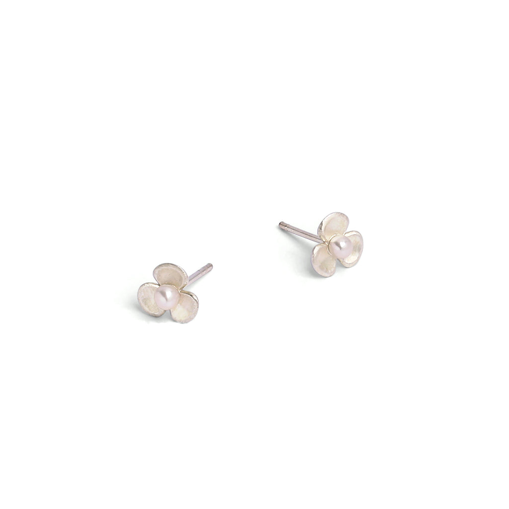 Bernd Wolf Leni Freshwater Pearl Sterling Silver Stud Earrings 8mm