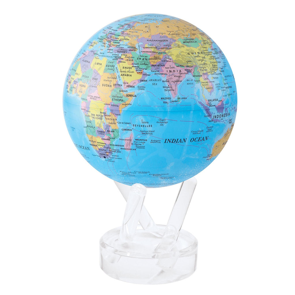 MOVA Globe Blue World Political Globe with Lucite Stand