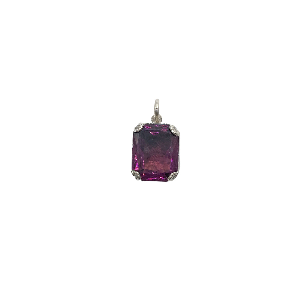 Small Estate Amethyst Pendant in Sterling Silver - Silverscape Designs
