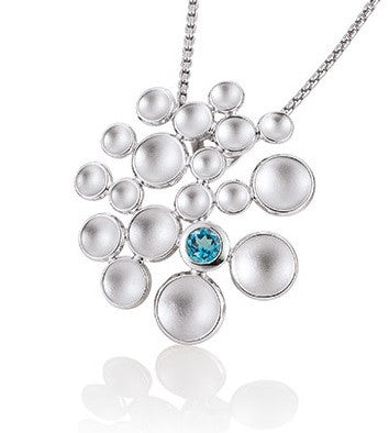 Breuning Sterling SIlver and Blue Topaz Pendant