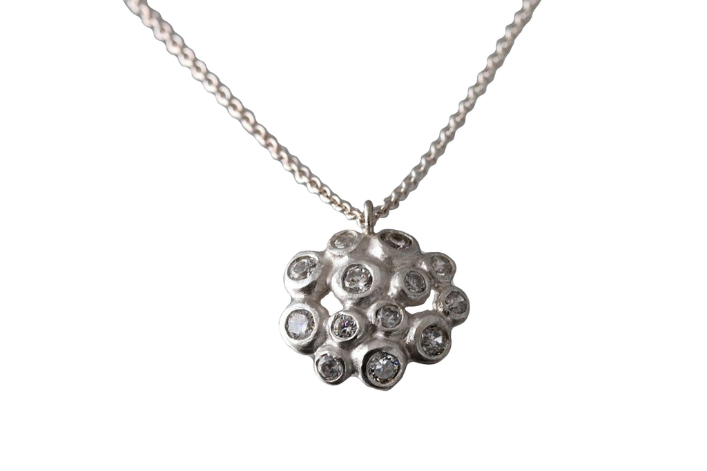 EAM Sterling Silver Dewdrop Cluster Pendant