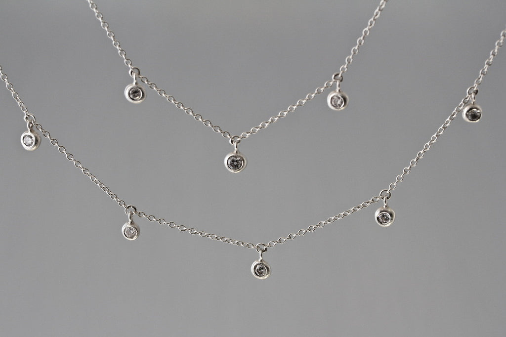 Dewdrop Station Necklace