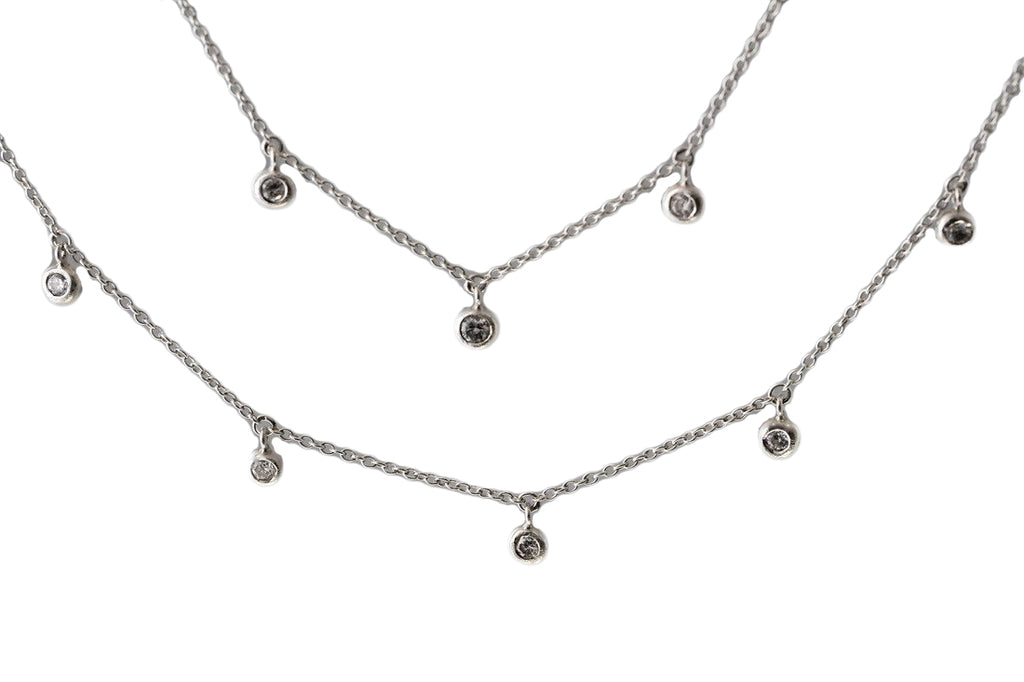 Dewdrop Station Necklace - Silverscape Designs
