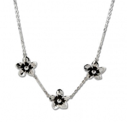 Zina Sterling Silver Hibiscus Necklace