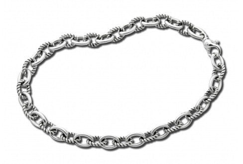 Zina Sterling Silver Twisted Link Necklace