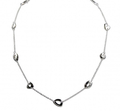 Zina Sterling Silver Touchstone Necklace