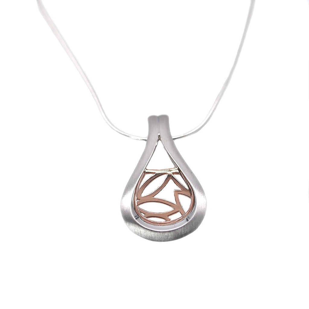 Breuning Sterling Silver and Rose Gold Pendant