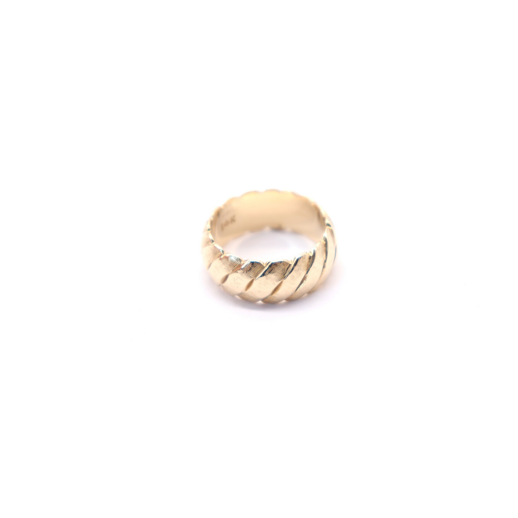 Estate 14 Karat Fancy Yellow Gold Band - Silverscape Designs