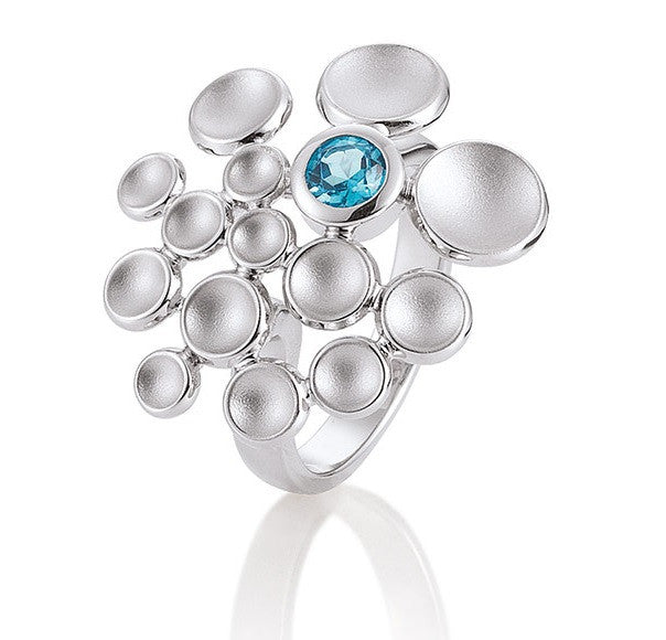 Breuning Sterling Silver and Blue Topaz RIng