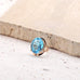 14 Karat Yellow Gold Blue Topaz Ring - Silverscape Designs