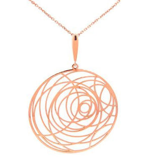 Detailed Necklace, Rose Gold