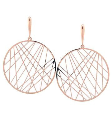 Symmetry Earrings, Rose Gold