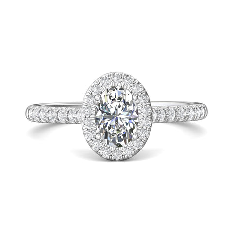 Martin Flyer Oval Halo Engagement Ring - Silverscape Designs
