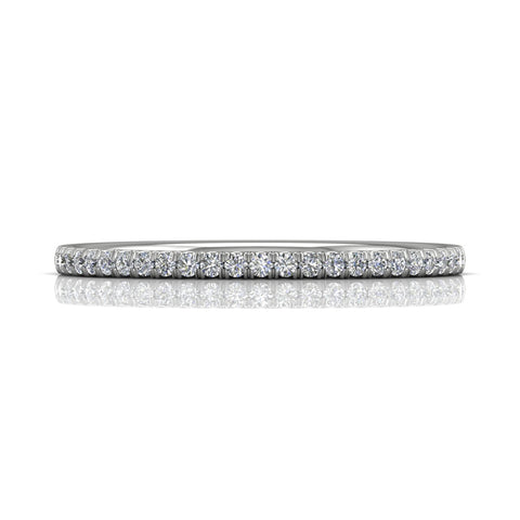 Martin Flyer 14K White Gold (25) Diamond Wedding Band - Silverscape Designs