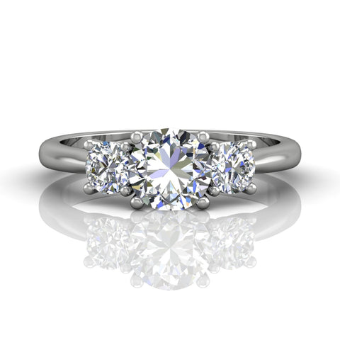 Three Stone Engagement Ring - Silverscape Designs