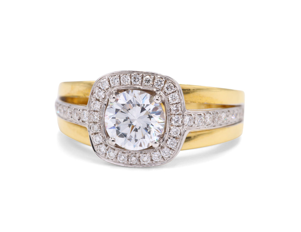 Two Tone Diamond Semi-Mount