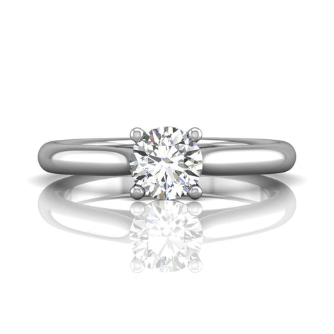 Flyerfit Solitaire Engagement Ring White Gold