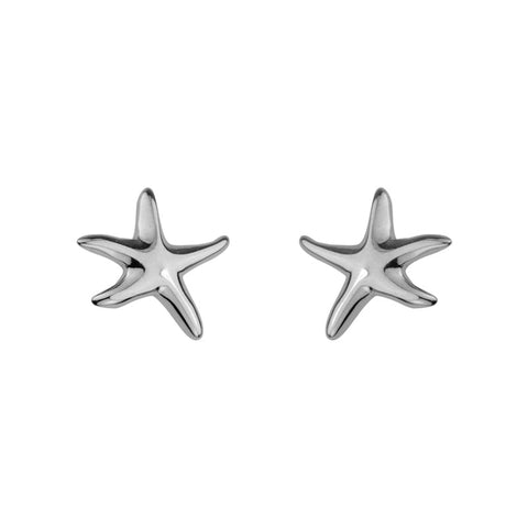 Sterling Silver Starfish Stud Earrings - Silverscape Designs